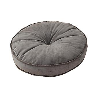 Corduroy solid color round cushion