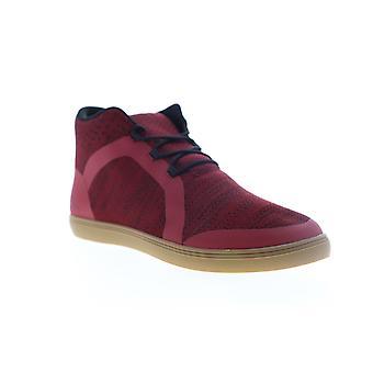 Robert Wayne Fenmore  Mens Red Canvas Low Top Sneakers Shoes