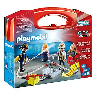 Playmobil 5651 Fire Rescue Carry Case - Large
