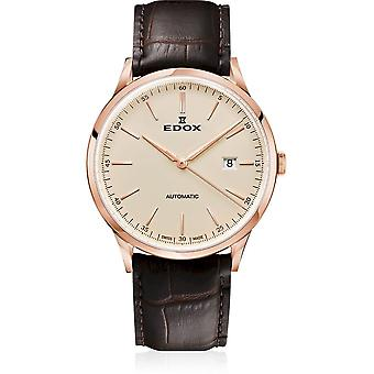 Edox - Wristwatch - Men - Les Vauberts - Automatic Date - 80106 37RC BEIR