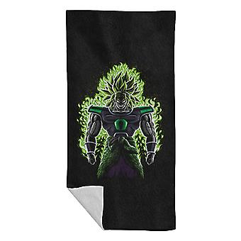 Broly Battle Fire Super Saiyan 3 Dragon Ball Z Beach Towel