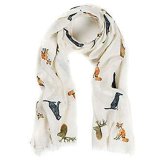 At Home In The Country Polyester Twill 70cm x 190cm Scarf - Country Animals