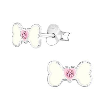 Bone - 925 Sterling Silver Crystal Ear Studs - W33584x