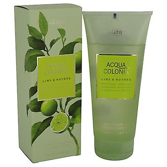 4711 Acqua Colonia Lime & muskot Shower Gel av Maurer & Wirtz 6.8 oz duschgel