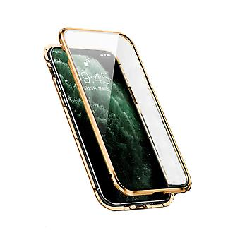 Mobile case with double-sided tempered glass - iPhone XS Max - Gold
