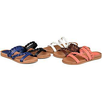 Brinley Co. Womens Braided Slip-on Sandal