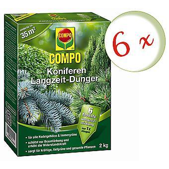 Sparset: 6 x CONifères COMPO engrais à long terme, 2 kg