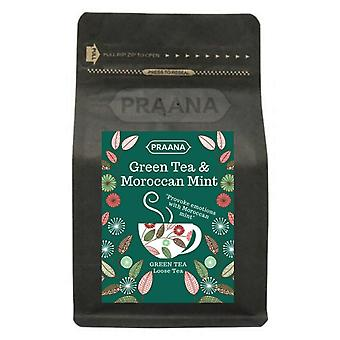 Praana Tea - Green Tea With Moroccan Mint Leaves, 100 G