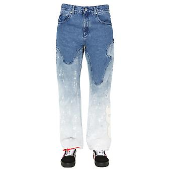 Off-white Owya012r207730987171 Women's Light Blue Cotton Jeans
