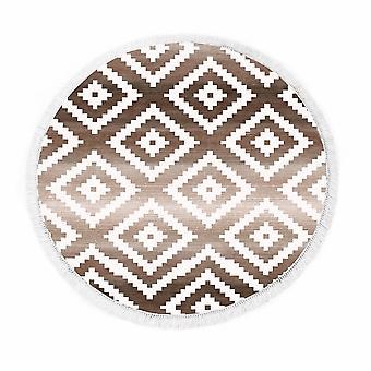 Bedruckter Teppich Rhombus 3 Bunt in Polyammid Micro Printed, L160xP160 cm