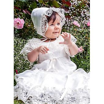 Christening Gown And Bonnet, Inspired Of Swedish Royal House's Gown.