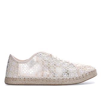 Women's Toms Lena Mosaic Mesh Espadrille Sneakers in Cream