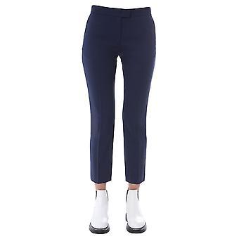 Ps By Paul Smith W2r083tb3040849 Women's Blue Wool Pants