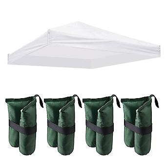 Instahibit 9.6x9.6 Ft Outdoor Event EZ Pop Up Canopy Tent Top Replacement Party Cover ONLY with 4 Pack Weight Sand Bag