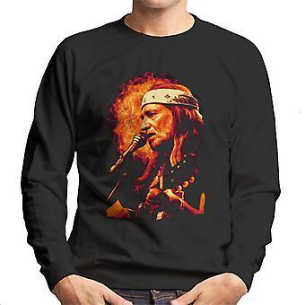TV Times Singer Willie Nelson 1983 Men's Sweatshirt