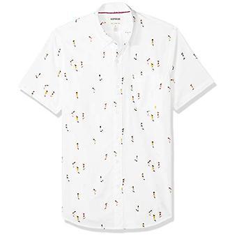 Goodthreads Men's Slim-Fit Short-Sleeve Printed Poplin Shirt, -Skateboards, L...