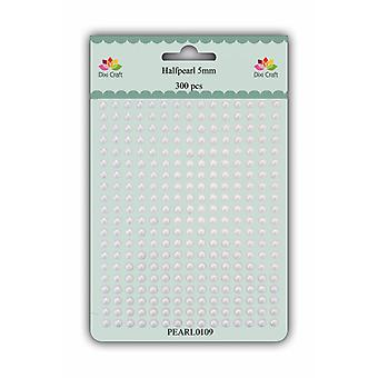 Dixi Craft Adhesive Pearl 5mm White