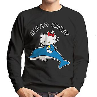 Ciao Kitty Riding Dolphin Uomini's Sweatshirt