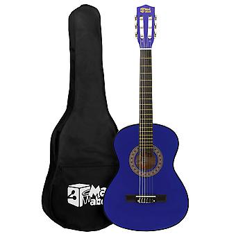 Blue 1/2 Classical Guitar by Mad About - Colourful Guitar with Bag