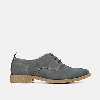 Mia light grey suede leather desert shoe