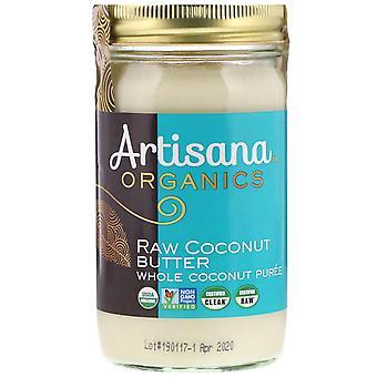 Artisana, Orgánicos, Mantequilla de coco cruda, 14 oz (397 g)