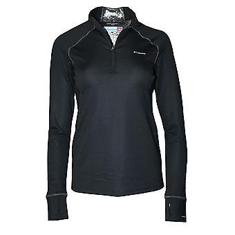 Columbia Women ' s meio pesado zip baselayer Omni Heat Top (preto, s)