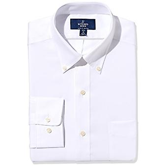 """BUTTONED DOWN Men's Classic Fit Button-Collar Non-Iron Dress Shirt (Pocket), White, 15"""" Neck 35"""" Sleeve"""