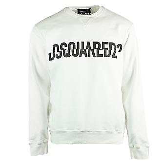 Dsquared2 Logotipo fatiado Cool Fit Moletom Branco