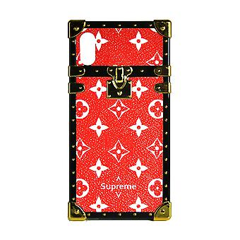 Phone Case Eye-Trunk Monogram para iPhone 8+ (Rojo)