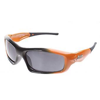 sportzonnebril unisex zwart/oranje met grijze lens