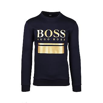BOSS Athleisure Boss Salbo 1 Crew Neck Knitwear Dark Blue