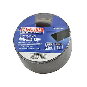 Faithfull Anti-Slip Tape 50mm x 5m Black 0808505BKTB6