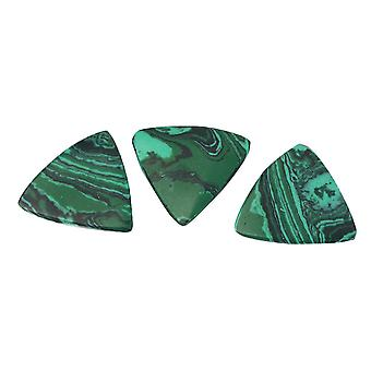 3PCS Mixte Naturel Triangle Emerald Guitar Pick Finger Pick