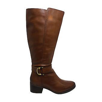 Naturalizer Women & apos؛s أحذية كيلسو الجلود مغلقة توب الركبة أحذية الموضة الراقية