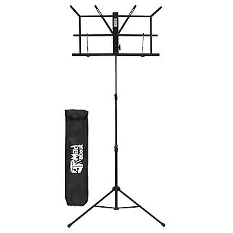 Folding Music Stand by Mad About - Black Easy Folding Portable Stand