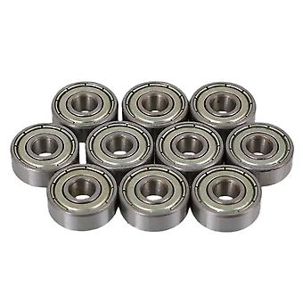 10PCS 6 x 17 x 6mm Silver Deep Groove Sealed Shielded Ball Bearing 606ZZ