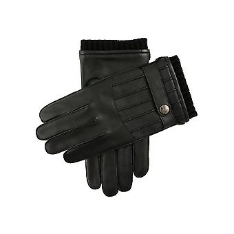 Men's Warm Lined Stitched Back Leather Gloves