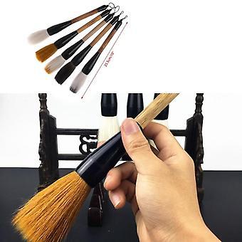 Calligraphy Brush Pen, Goat Hair, Bamboo Shaft Paint Brush For Art Stationary
