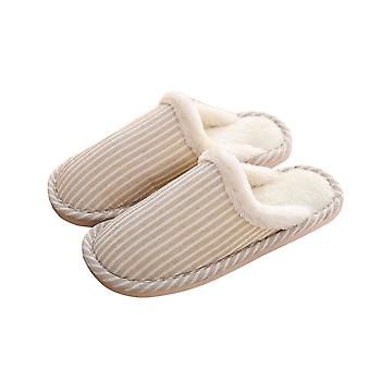 Comfortable memory foam suede slippers, furry indoor and outdoor slippers