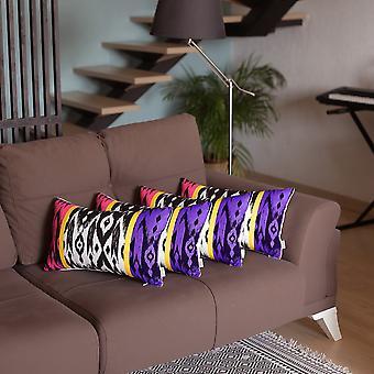 dekorativ polyester - polyester putetrekk (sett av 4)