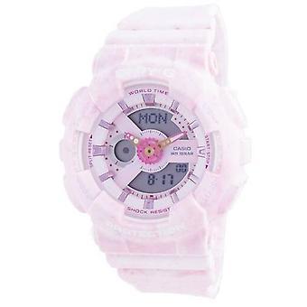 卡西欧婴儿 - g 世界时间抗震 Ba-110pi-4a Ba110pi-4 100 米女子手表