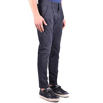Dondup Ezbc051117 Men's Blue Cotton Pants