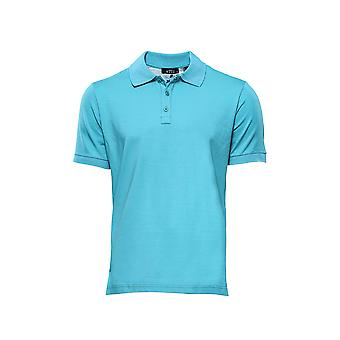 T-shirt col polo Oxford bleu