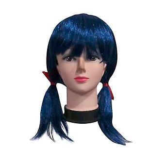 Kids Adult Halloween Cosplay Marinette Earrings Wig Suit, Spandex Jumpsuit