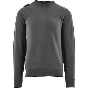 MA.STRUM Grey Core Crew Sweatshirt