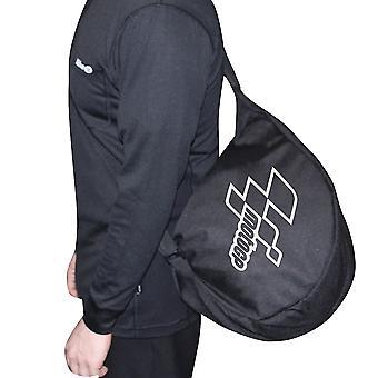 MotoGP Motorcycle Messenger Helmet Bag Padded Adjustable Strap Black