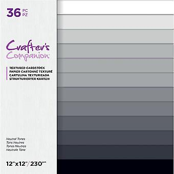 Crafter's Companion Neutral Tones 12x12 Inch Textured Cardstock