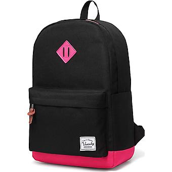 Vaschy Classic Lightweight Backpack for Womens Fits 15-Inch Laptop Water Resistant Campus Daypack