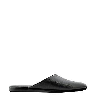 Farfalla Orma5sccervonero Men's Black Leather Slippers