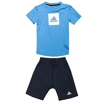 Boy's adidas Baby And Infant Logo Summer Set in Blue
